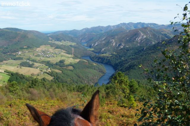 beautiful view while hacking from the Horsehotel in Boal, Asturias, for sale